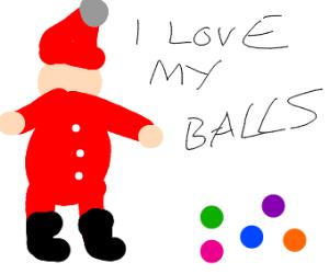 Santa loves his balls