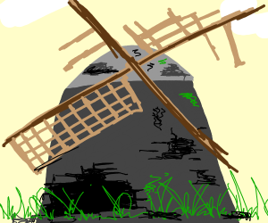 An old decrepit windmill