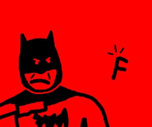 batman shooting letter f