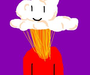 someone's head is a nuclear mushroom