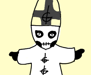 Papa Emeritus (from the band Ghost)