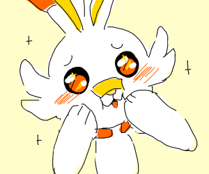 scorbunny being cute uwu