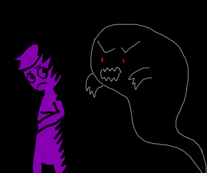 purple guy is getting haunted