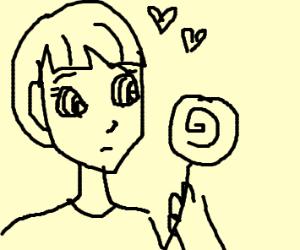 anime boi eating lollipop