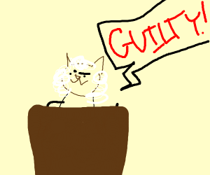 Emilio the business cat is now a judge owo
