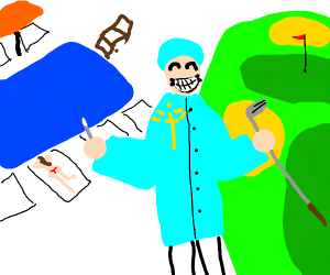 Surgeon enjoying Heaven