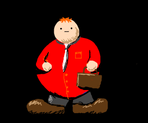 Fat guy from the office wears red