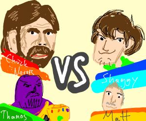 Chuck Norris vs Shaggy vs Thanos vs Matt