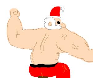 Buff santa flexing