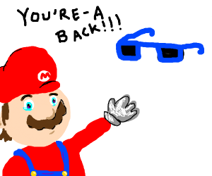 emotional reunion of mario and his sunglasses