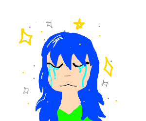 beautiful crying girl
