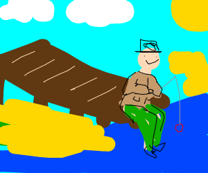 Fisherman Relaxing