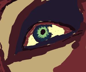 beautiful blueish eye