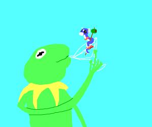Kermit Drinks a Martini