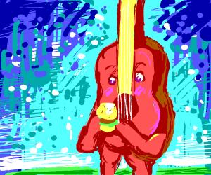 Guitar eats burger