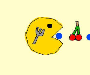 Fork has transformed into Pac-Man