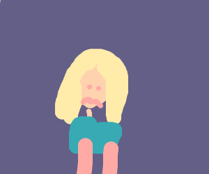 Angry blonde person