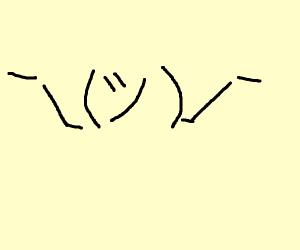 Shrugging emoticon