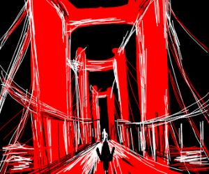 Shadow Man Golden Gate Bridge