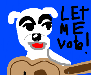 k.k. slider should be able to vote, too!