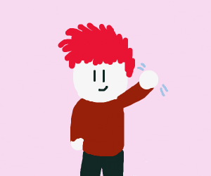 Red haired man looking at you with a smile
