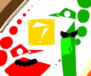 Abstract Mario and Luigi