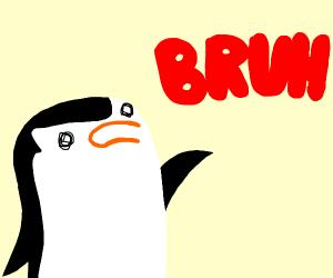 skipper(madagascar) says bruh