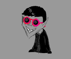 a vampire wearing sunnies
