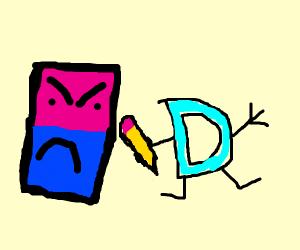Eraser angry at drawception logo