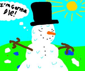 Sentient snowman has an existential crisis