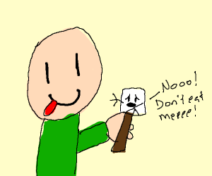 marshmellow does not want to be eaten