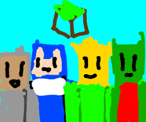 me and the boys in minecraft