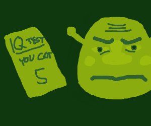 Shrek tries to be wise but ends up surly