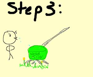 Step 3 spit a weed wacker