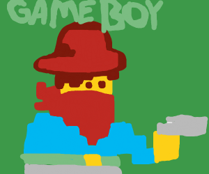 Cowboy in Gameboy game
