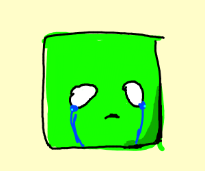 sad green square