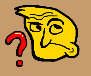 abstract face that is confused