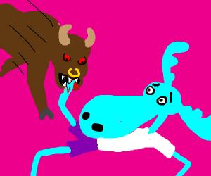 Bull eats Moose