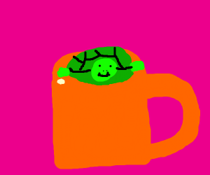 A turtle in a cup