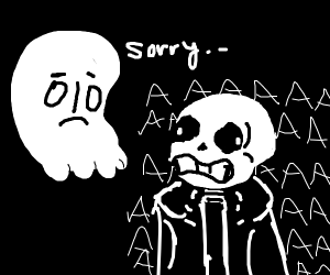 Ghost from undertale scare some dude