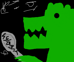 a dinasor eating hylagrifs