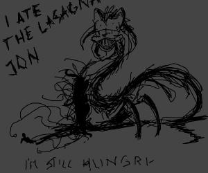 Garfield tells jon he ate the lasagna
