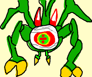 The green zelda spider