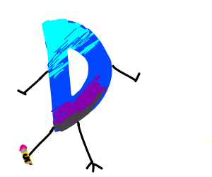 Mixed up drawception logo withe legs