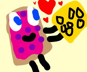 Poptart likes cheese