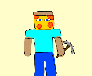 pizza face minecraft guy
