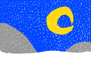 Moon in a Snowstorm