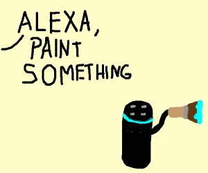 Alexa painting a picture
