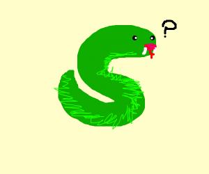 Snake wearing lipstick