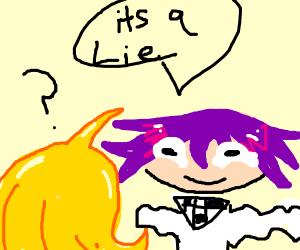 Kokichi being weird to kaede